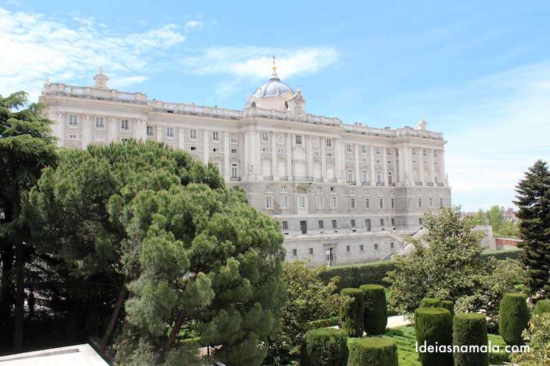 Jardins de Sabatini - Palácio Real de Madri