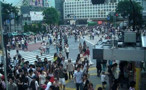 O cruzamento de Shibuya - Japão