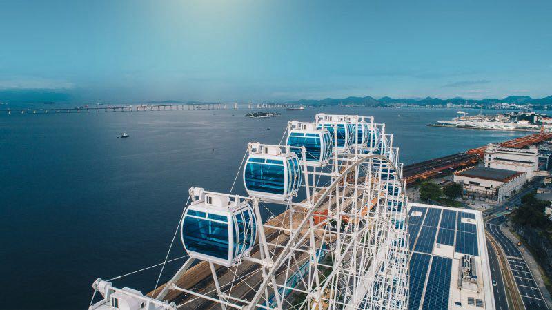 Roda Gigante do Rio de Janeiro Vista de cima