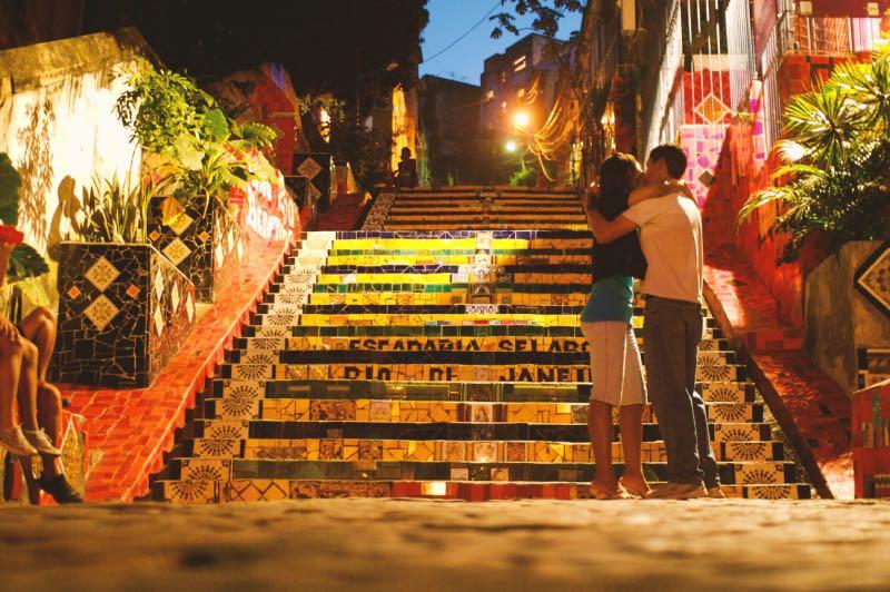 Escadaria Selarón a noite