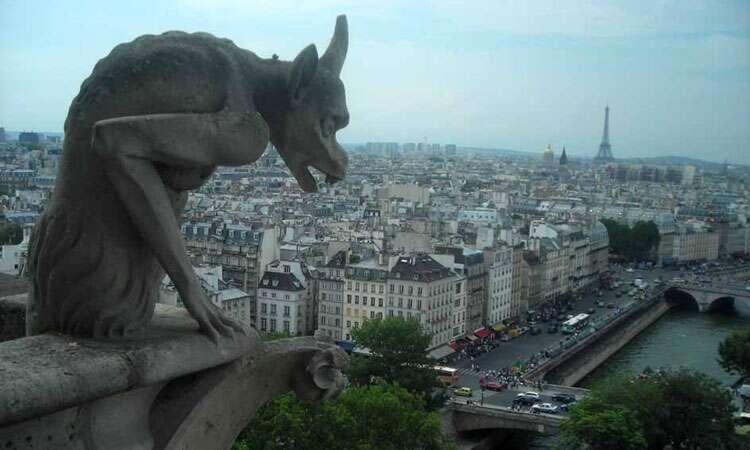 Paris vista do alto da Catedral de Notre Dame
