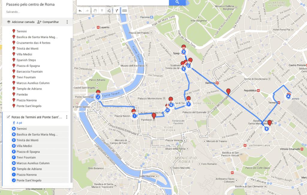 Roteiro Google Maps