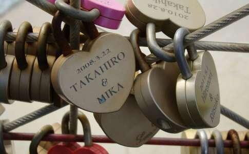 Cadeados apaixonados