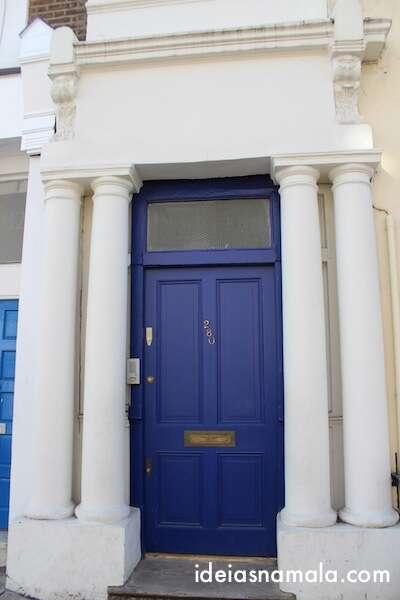 Porta azul do filme Notting Hill - Londres