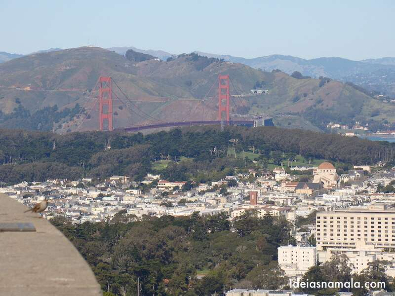 Golden Gate vista do Twin Peaks