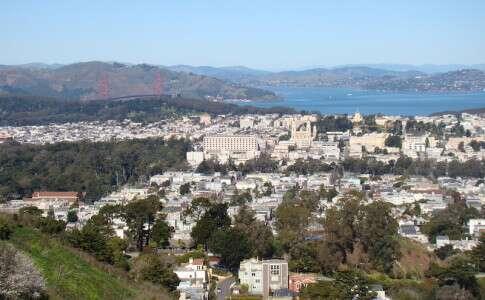 Golden Gate vista do Twin Peaks