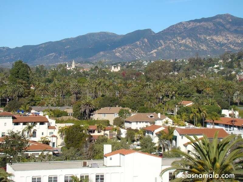 Vista do alto da torre do relógio - Santa Barbara