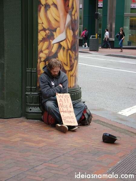 Mendigo em San Francisco