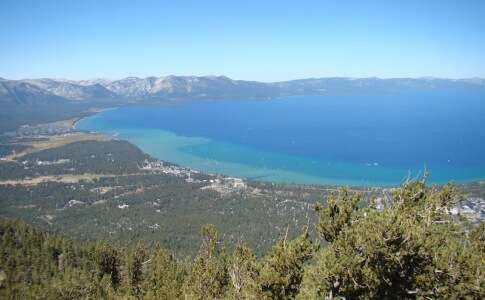 Lake Tahoe visto do alto
