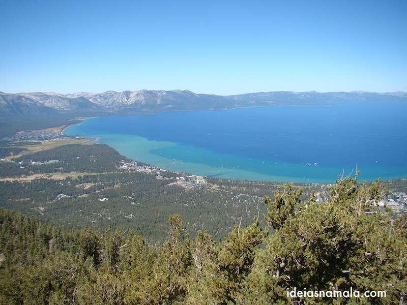 Lake Tahoe visto do alto