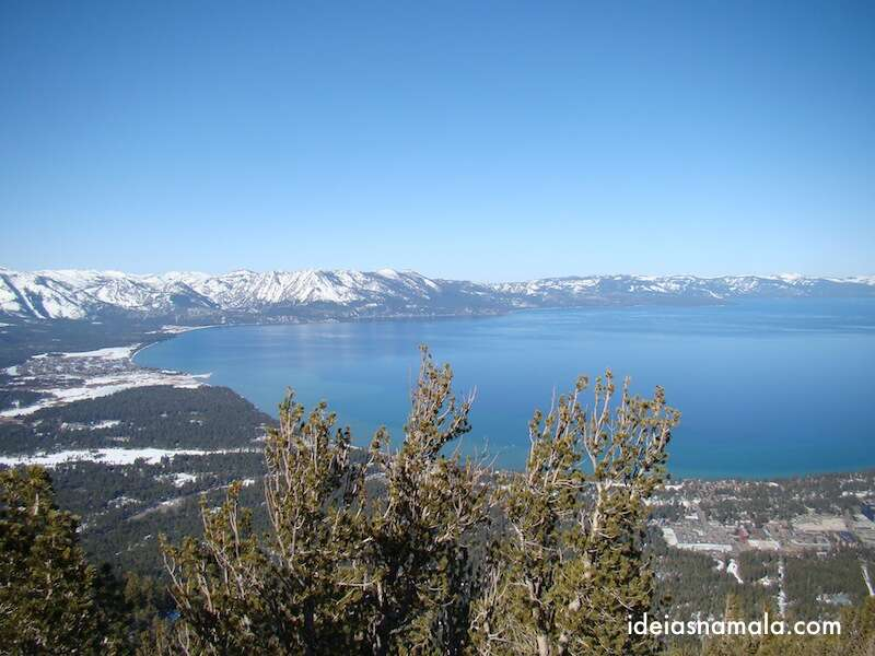 Vista do alto de Heavenly - Lake Tahoe