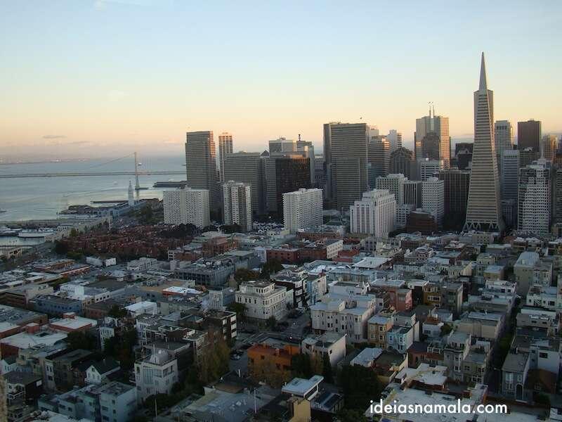 Vista do alto da Coit Tower - San Francisco