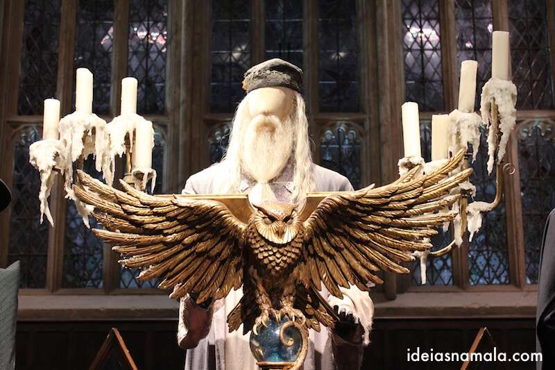Dumbledore no Salão Comunal do Harry Potter