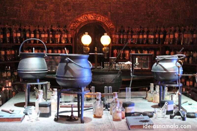 Sala de poções - Making off Harry Potter