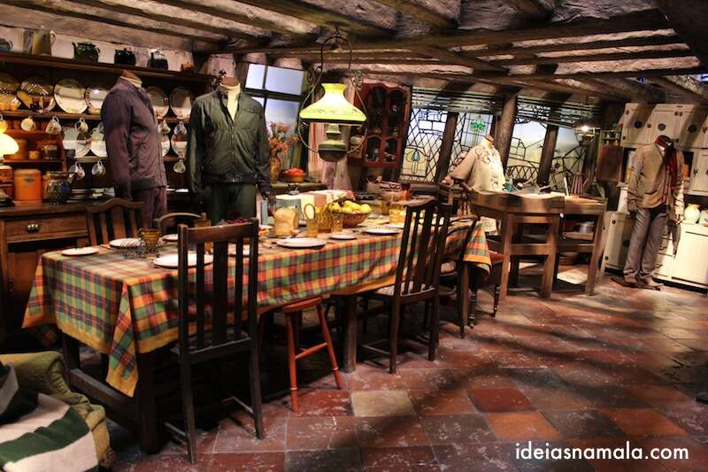 Casa do Weasley - Making off Harry Potter