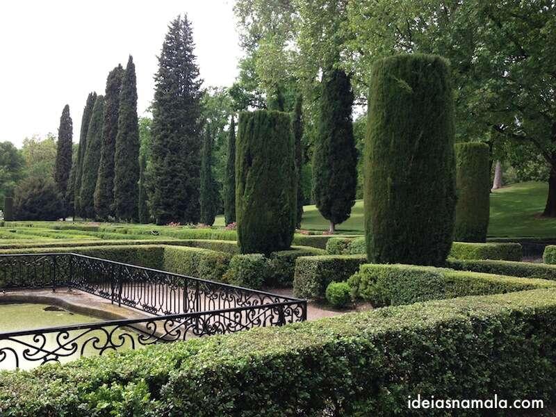 Laberinto no parque Capricho - Madri