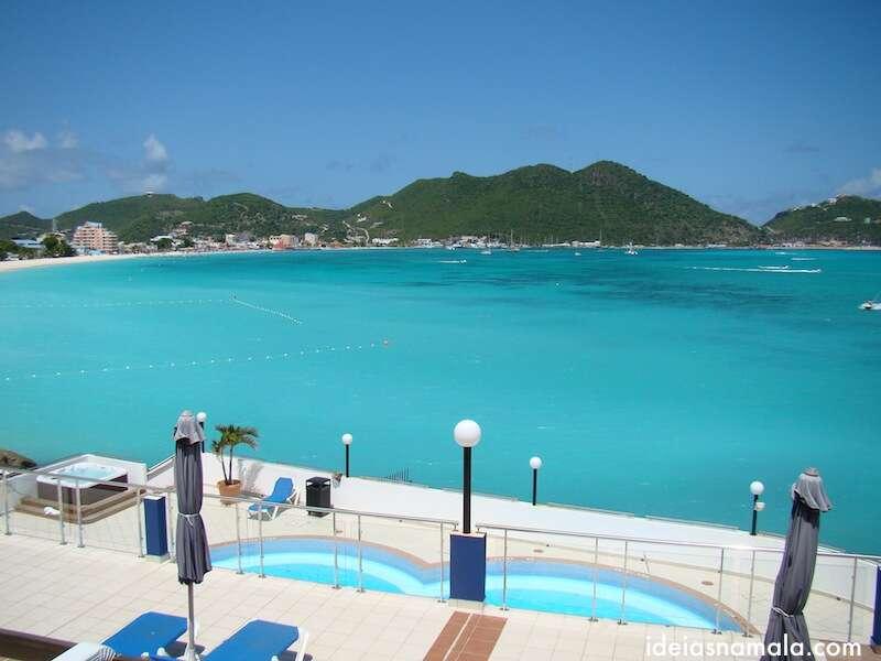 Praia do hotel o Sonesta Great Bay