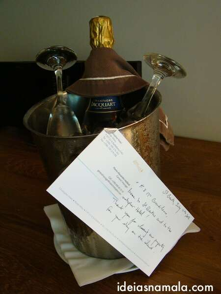 Mimos de boas vindas do Hotel Christopher - Sant Barths