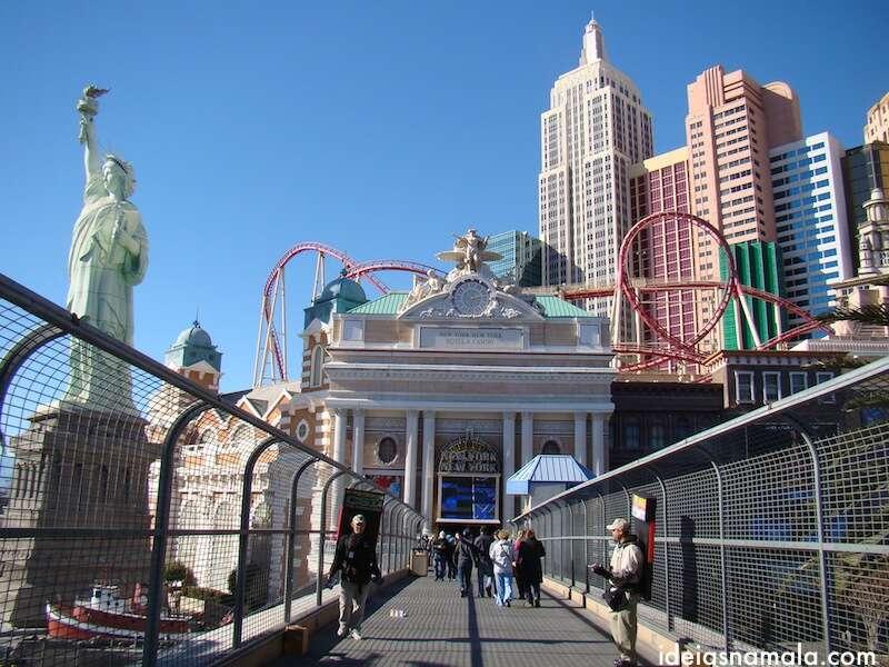 Passarela do New York New York em Vegas