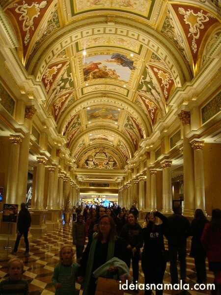 Uma das bonitas galerias do Palazzo