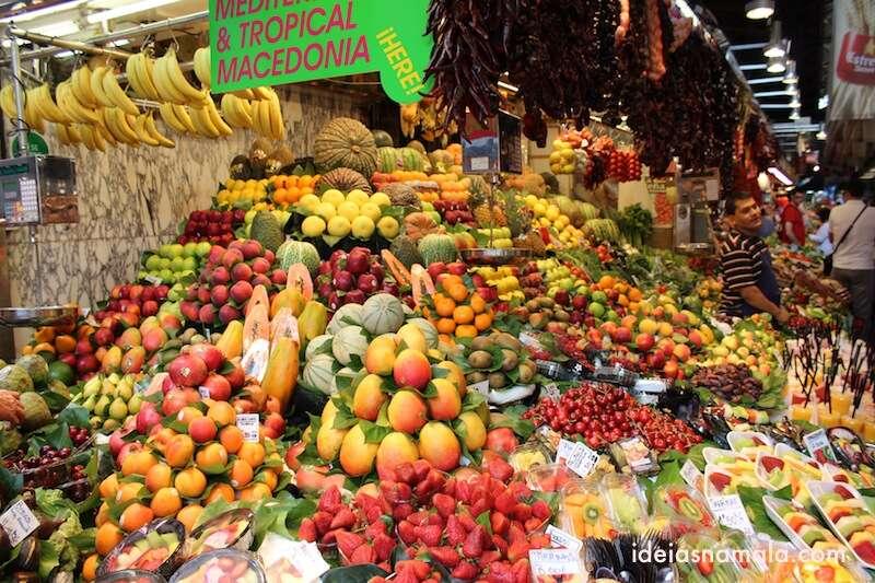 Frutas no mercado Boqueria