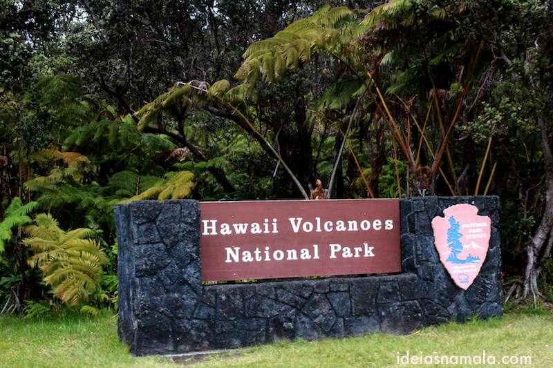 Entrada do parque dos Vulcões - Big Island, Hawaii