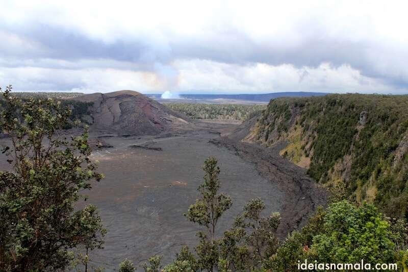 cratera de vulcão antigo - Havaí