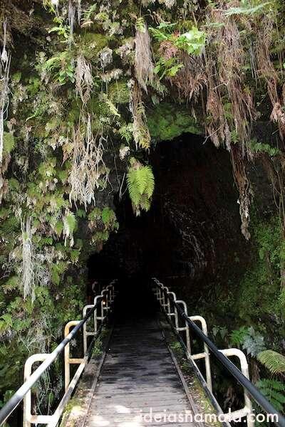 Entrada das cavernas de lava