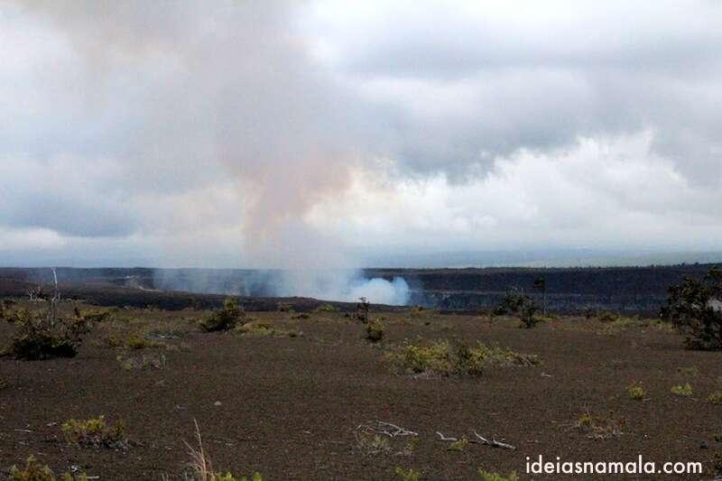Cretera do vulcão Kilauea - Volcano National Park