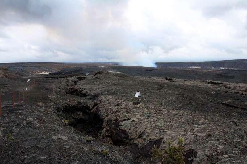 Vulcão Kilauea no Volcano National Park - Havaí