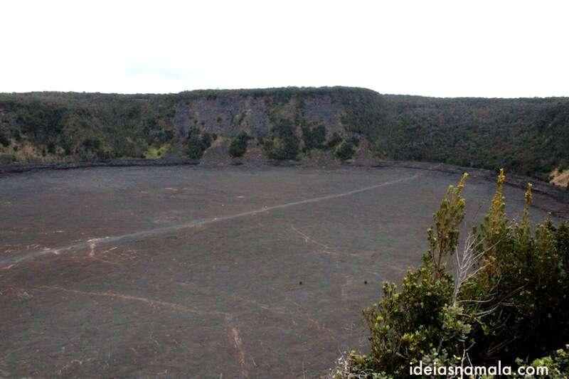 Cratera do vulcão