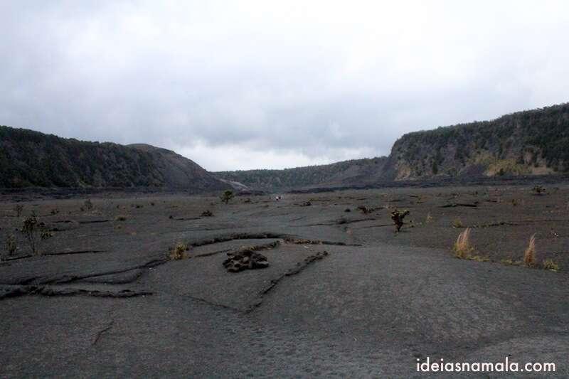 Caminhando pela cratera