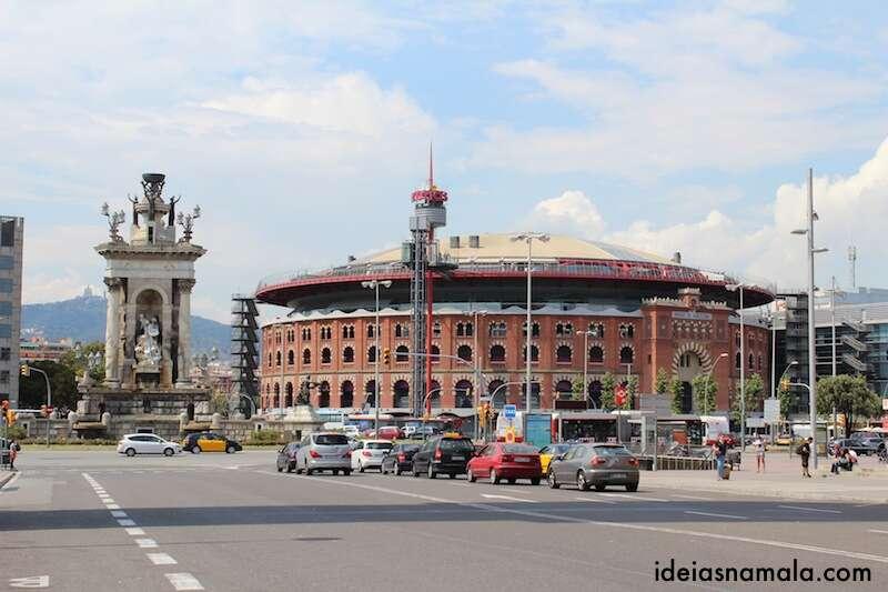 Antiga praça de touros de Barcelona, hoje um shopping center
