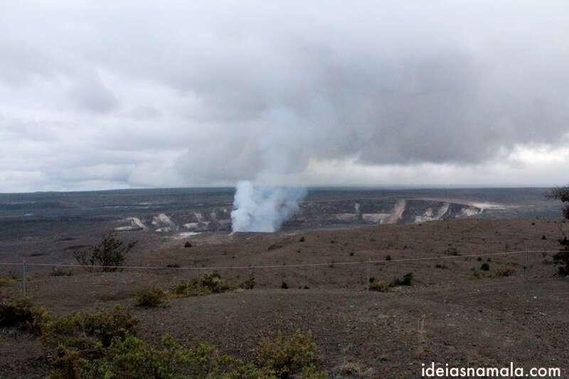 Vista do mirante - Parque nacional dos vulcões