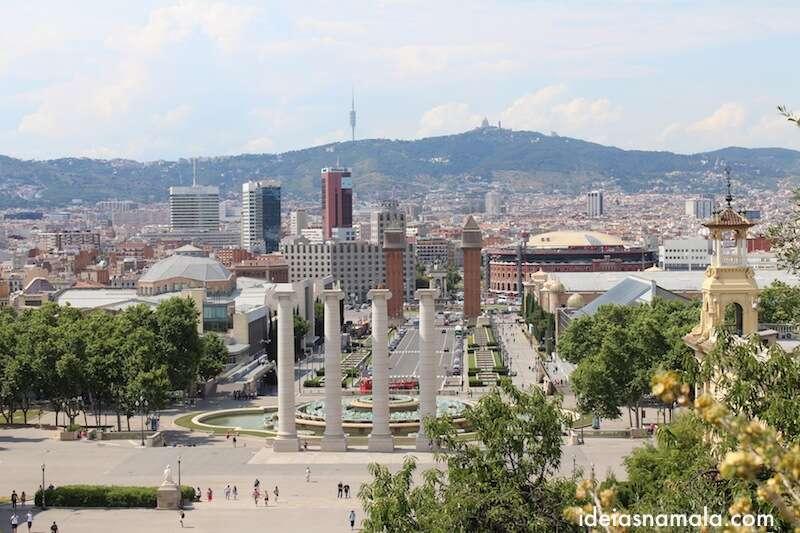 Barcelona vista do alto de Montjuic