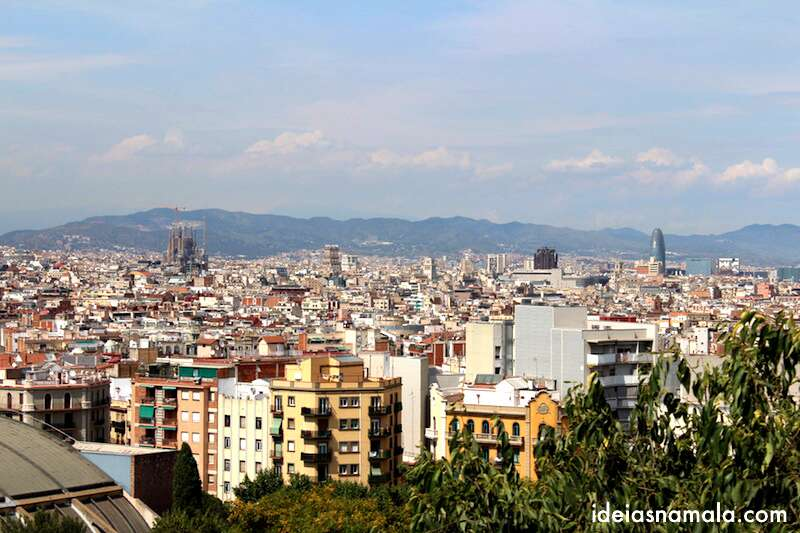 Barcelona vista do alto de Monjuic