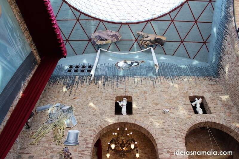 Teto do museu Dalí