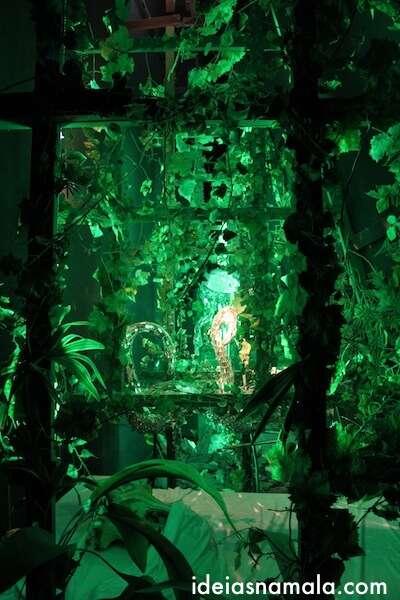 Jardim secreto no museu Dalí