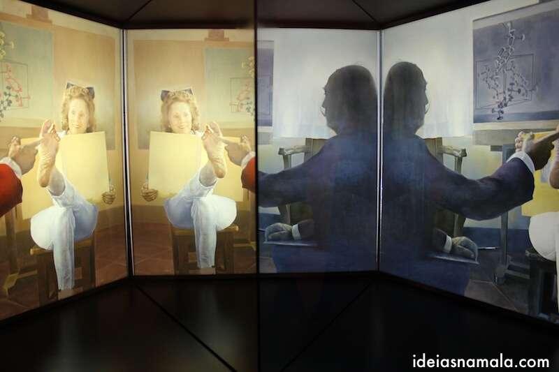 Dalí e Gala em várias perspectivas