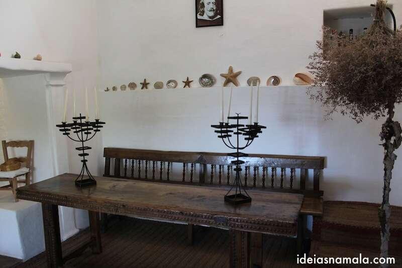 Sala de jantar casa de Dalí - Port Lligat