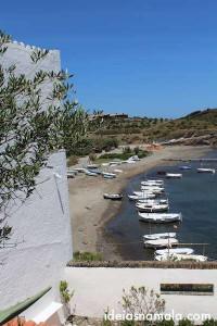 Vista da casa de Dalí