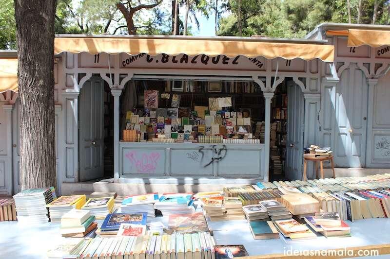 feirinha de livros - Madri