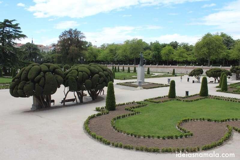 Retiro - Jardim que fica nos fundo do Museu do Prado