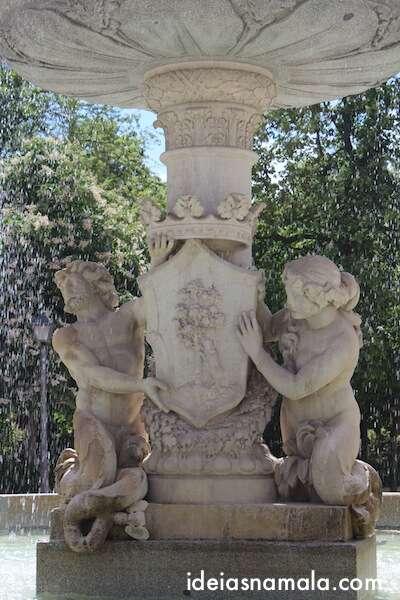 Fonte no Parque do Retiro - Madri