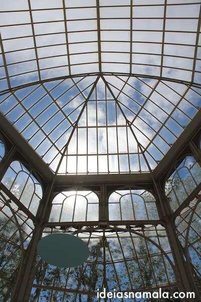 Teto do Palacio de Cristal - parque do Retiro