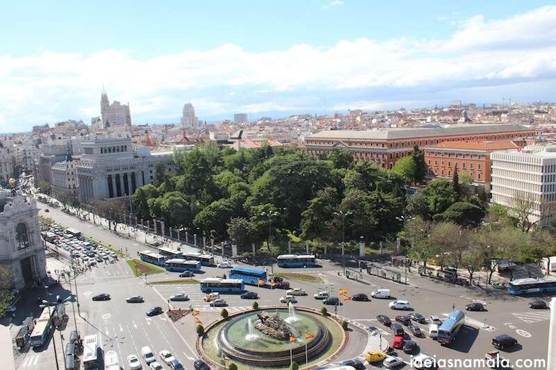 Madri vista do alto do Palácio de Comunicaciones
