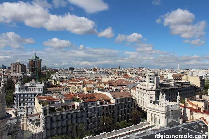 Madri vista do Palácio de Cibeles