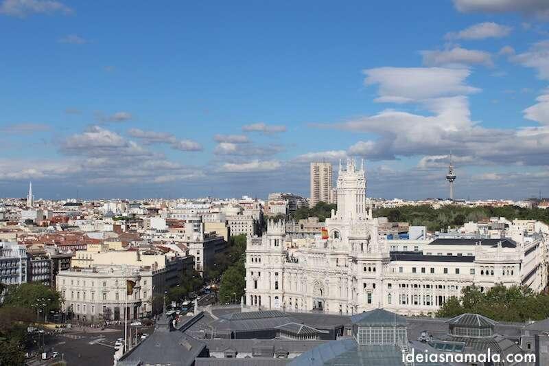 Palácio de Cibeles visto do Círculo de Bellas Artes