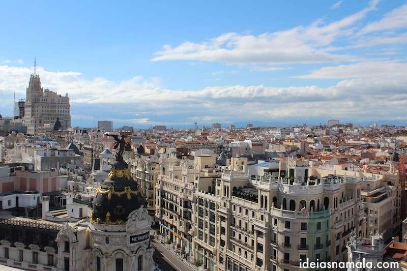 Granvia vista do alto do Circulo de Bellas Artes
