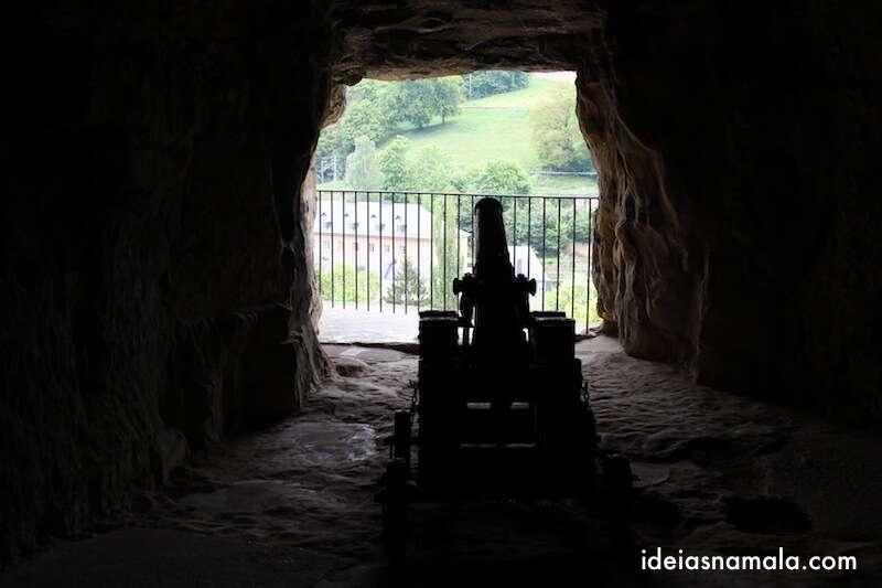 Interior das Casamatas de Bock